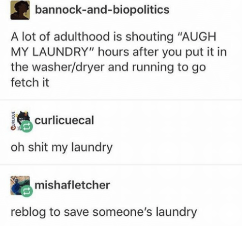 tweet about rememering to pick up your laundry
