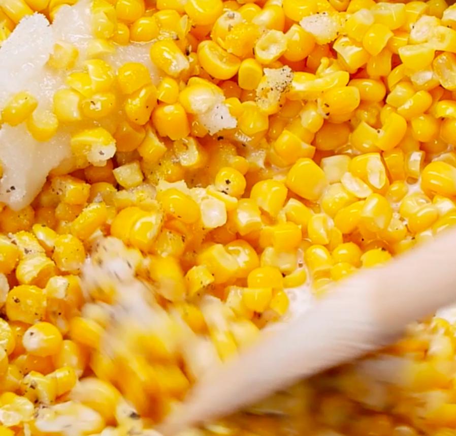 Creamy corn.