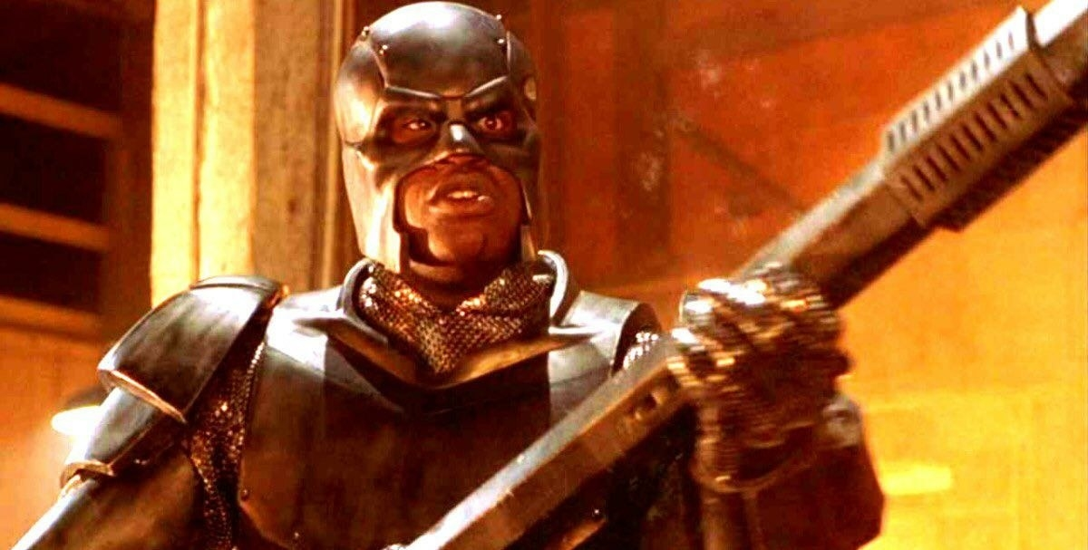 "Shaquille O'Nea as a superherol in ""Steel"""