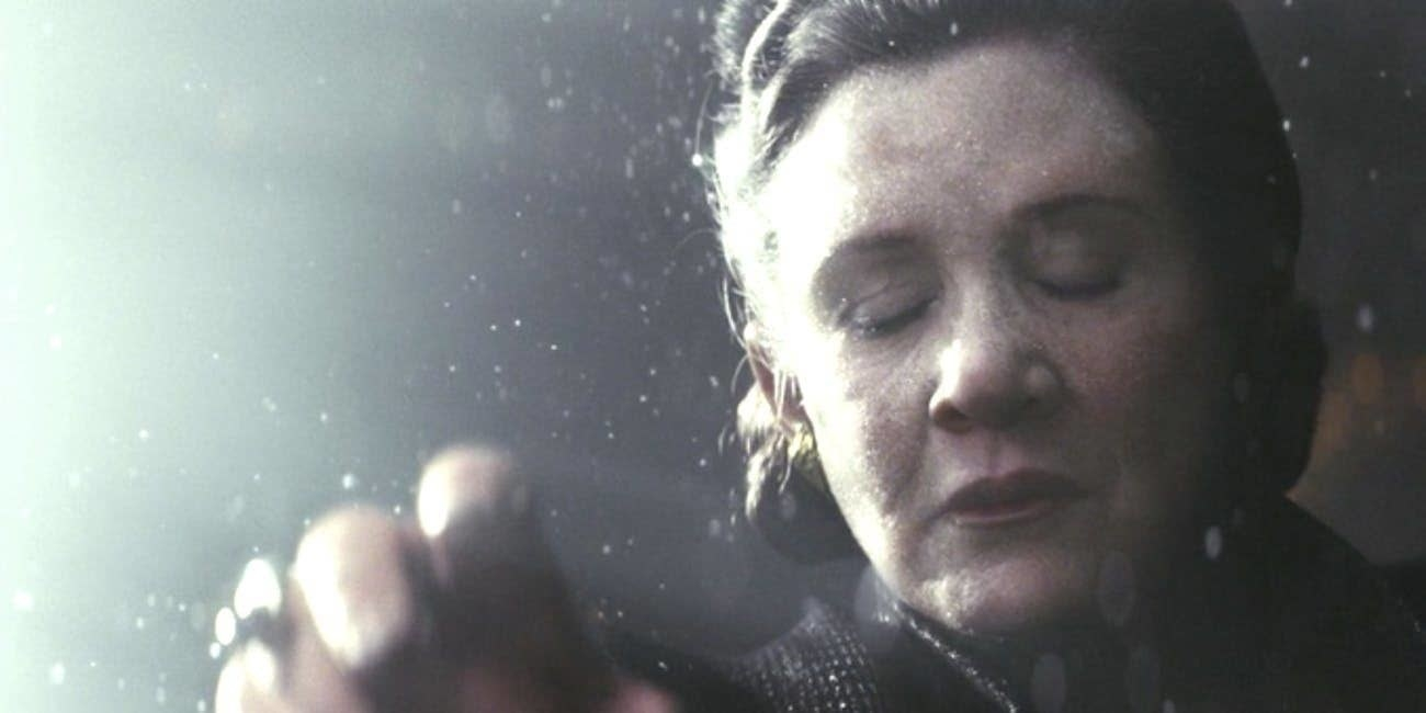 "Princess Leia uses the force in space to propel herself to safety in ""Star Wars: The Last Jedi"""