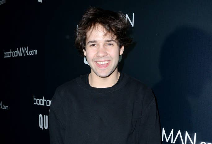 David Dobrik posing at an event