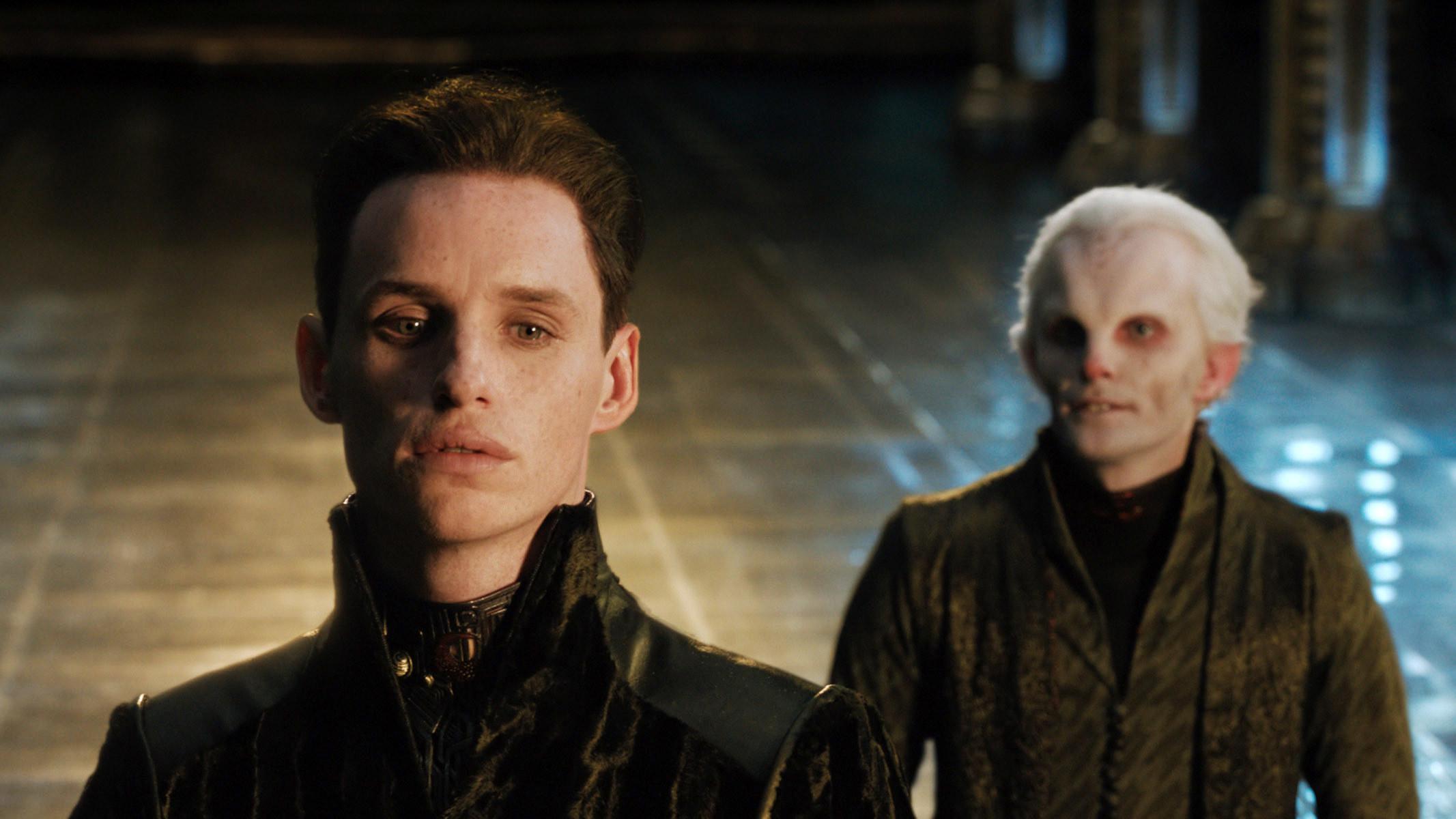 """Eddie Redmayne and Edward Hogg in """"Jupiter Ascending"""""""