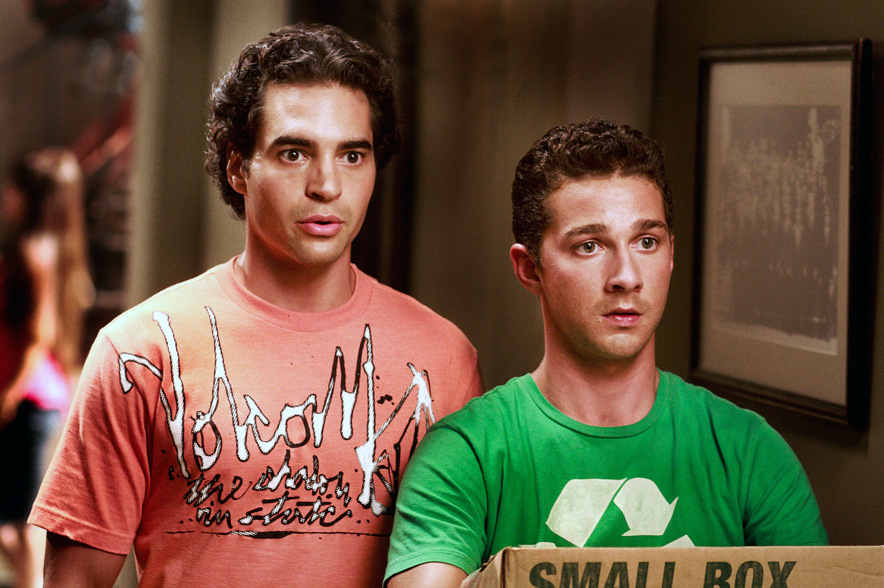 "Ramon Rodriguez and Shia LaBeouf in ""Transformers 2"""
