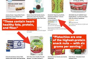 Healthy snacks available on Amazon