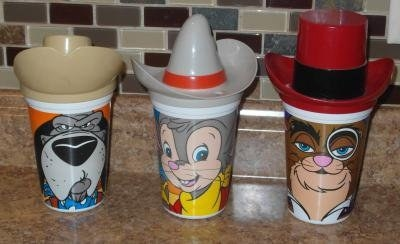 """Fievel Goes West"" cups from Pizza Hut"