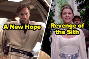 """Screencaps labeled """"A New Hope"""" and """"Revenge of the Sith"""""""