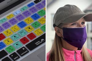keyboard and mask hat