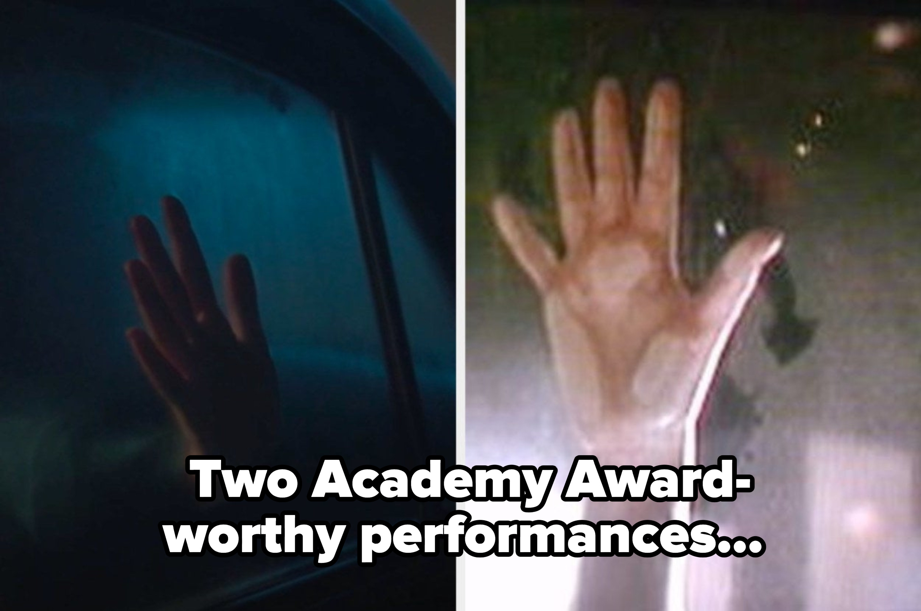 Archie's hand side by side with the hand scene in the Titanic
