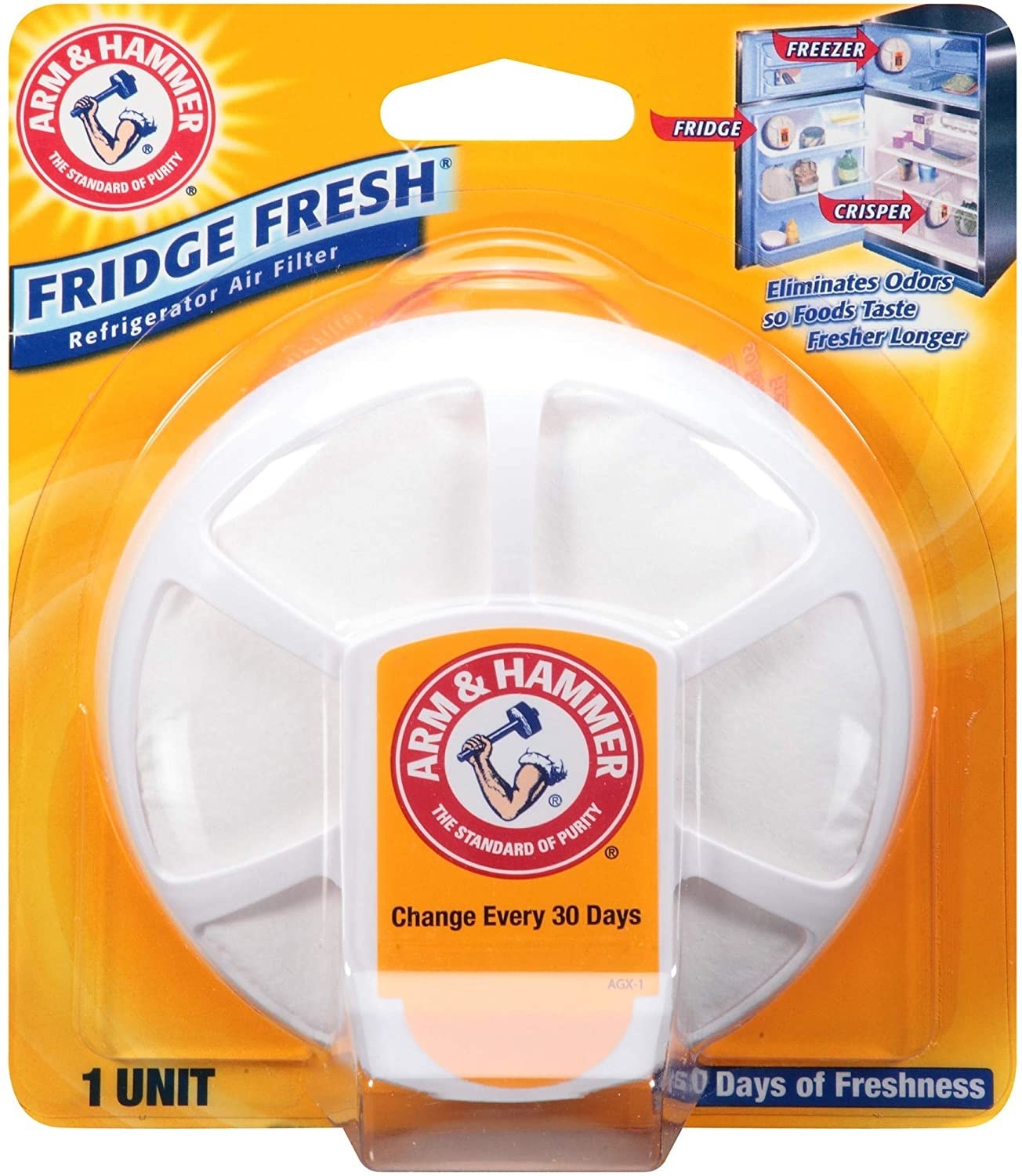 A round air filter gadget in packaging