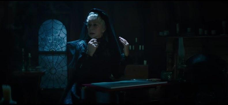 A woman in an attic.
