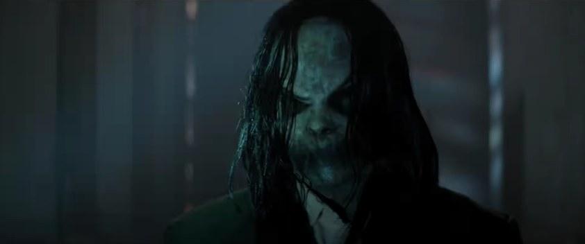 Bogeyman standing in a dark hallway