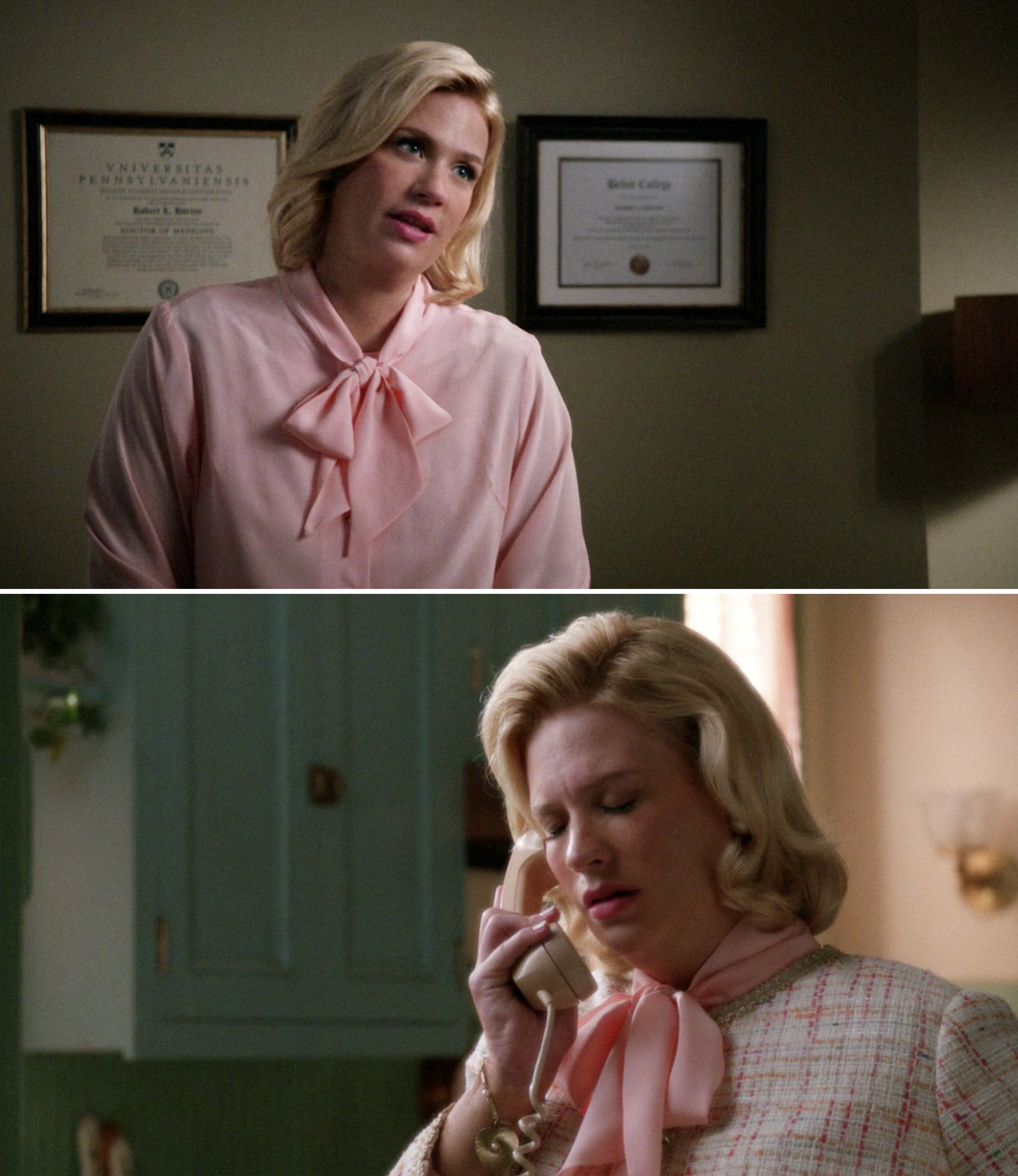 Betty at the doctor's office and Betty on the phone