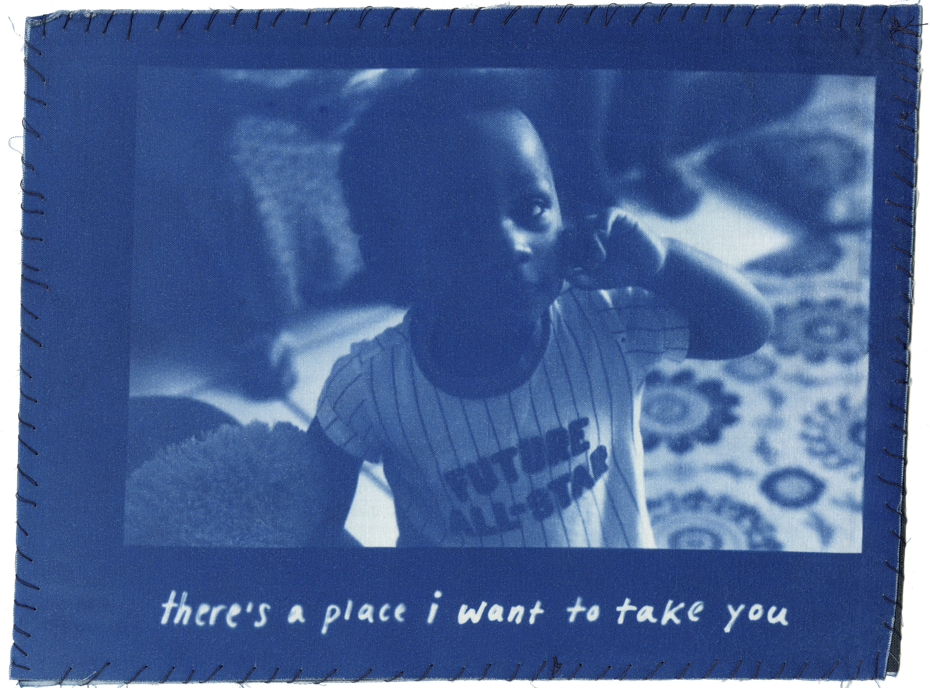 """A photo collage of a young boy with text underneath that says """"there's a place i want to take you"""""""