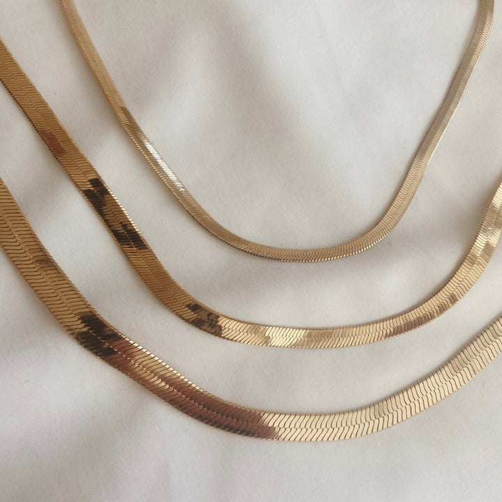 three chain necklaces