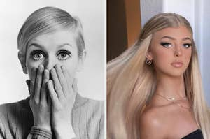 Twiggy on the left and loren gray on the right