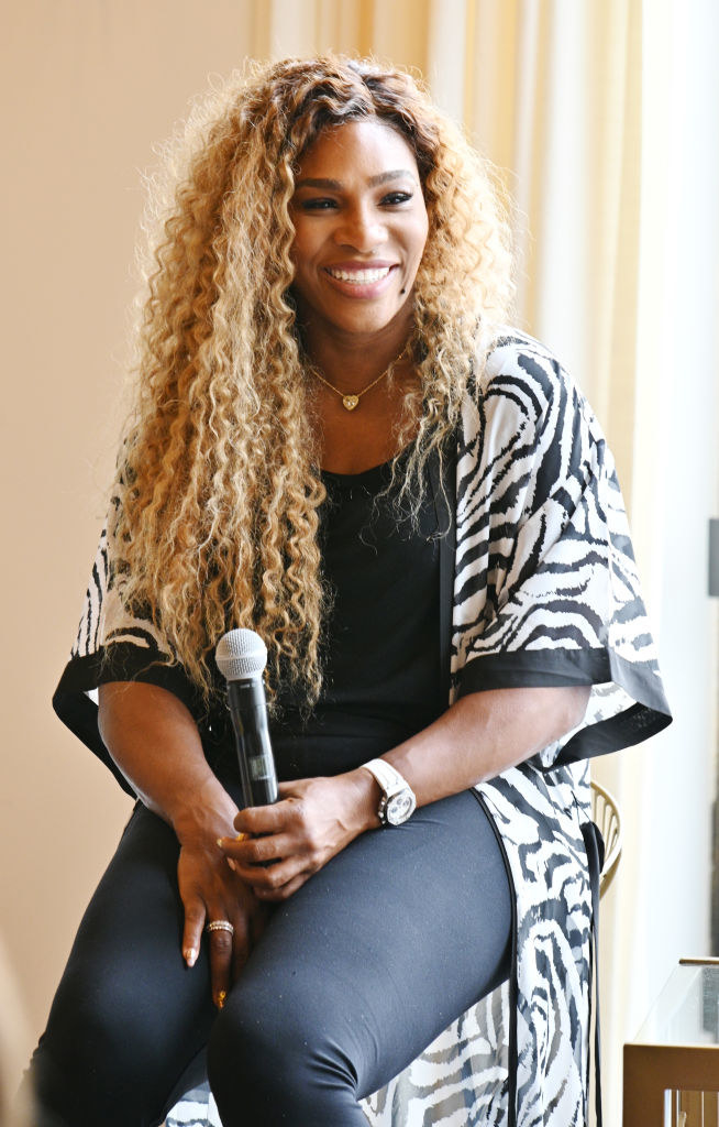 Serena Williams speaks during 'Real Talk with Two Female Champions Inspiring the Next Generation'