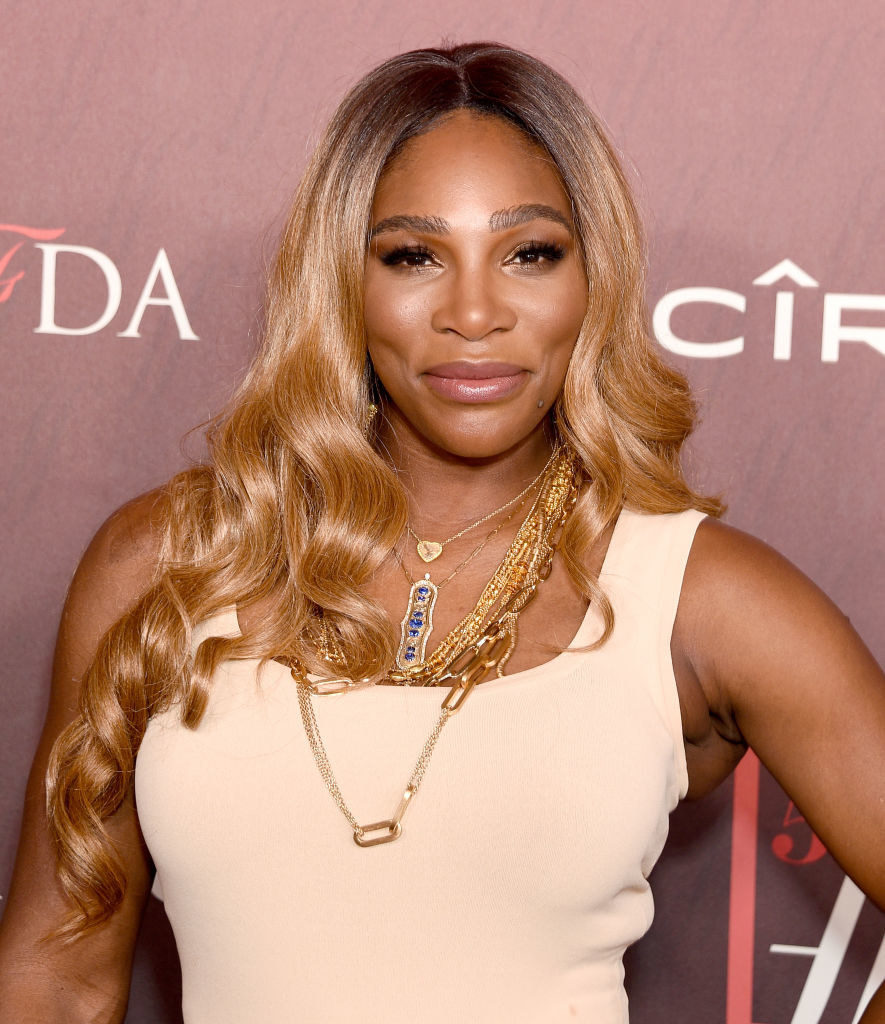 Serena Williams arrives at the Sports Illustrated Fashionable 50