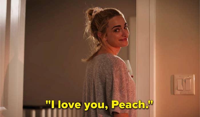 "Georgia saying, ""I love you, Peach"""