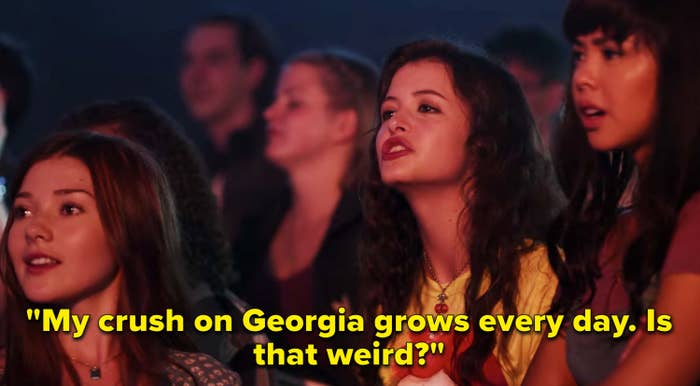 """Max saying, """"My crush on Georgia grows every day. Is that weird?"""""""