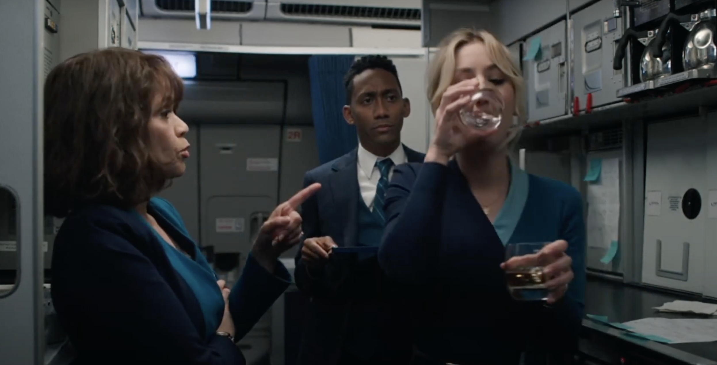 """Kaley Cuoco and Rosie Perez in """"The Flight Attendant"""""""