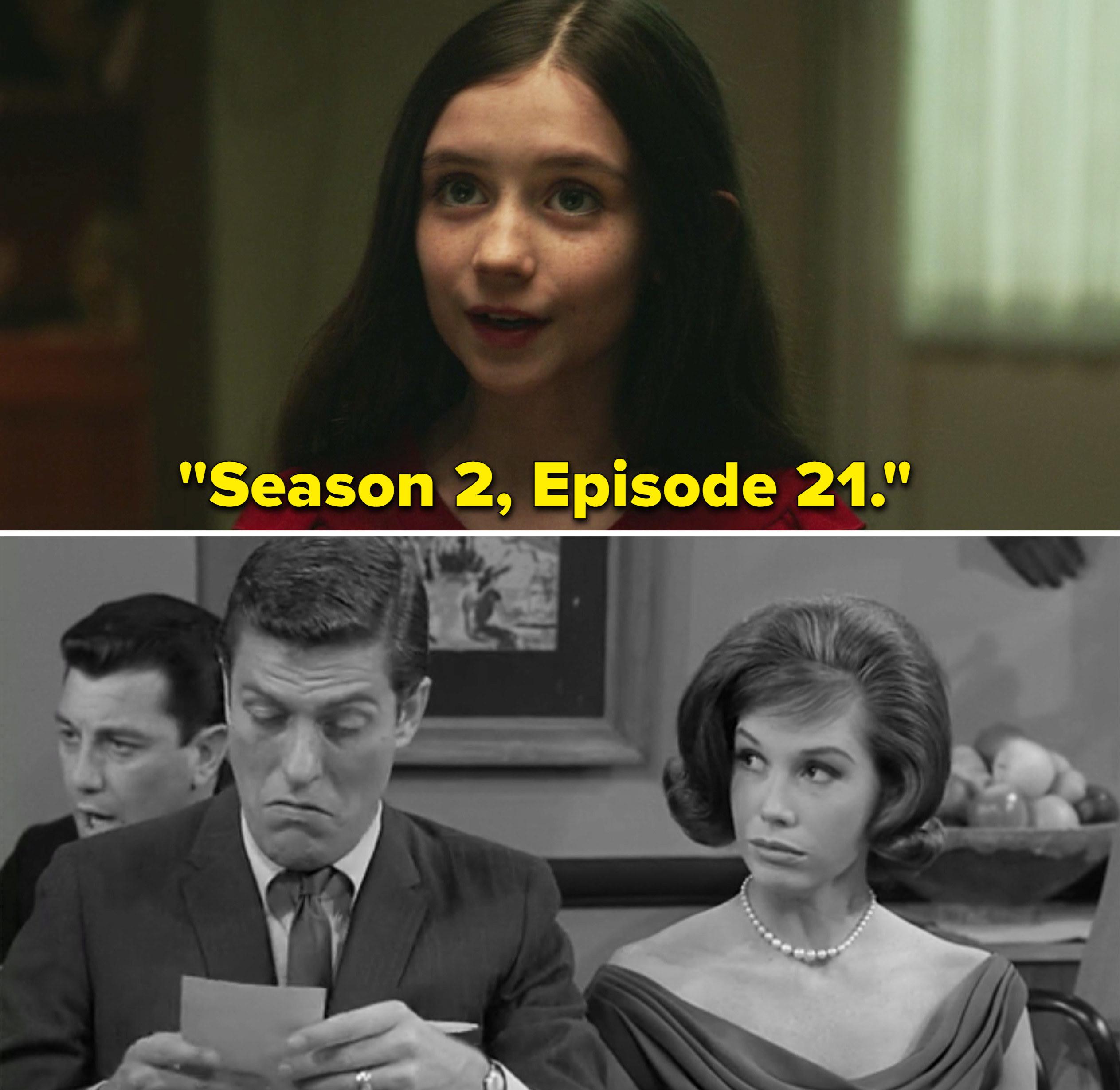 "Young Wanda saying, ""Season 2, Episode 21"""