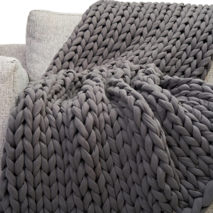 Blanket on couch