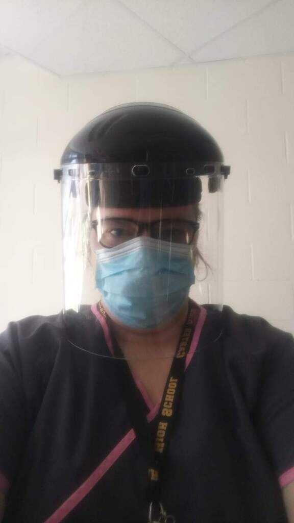 Bonny Cannon in PPE.