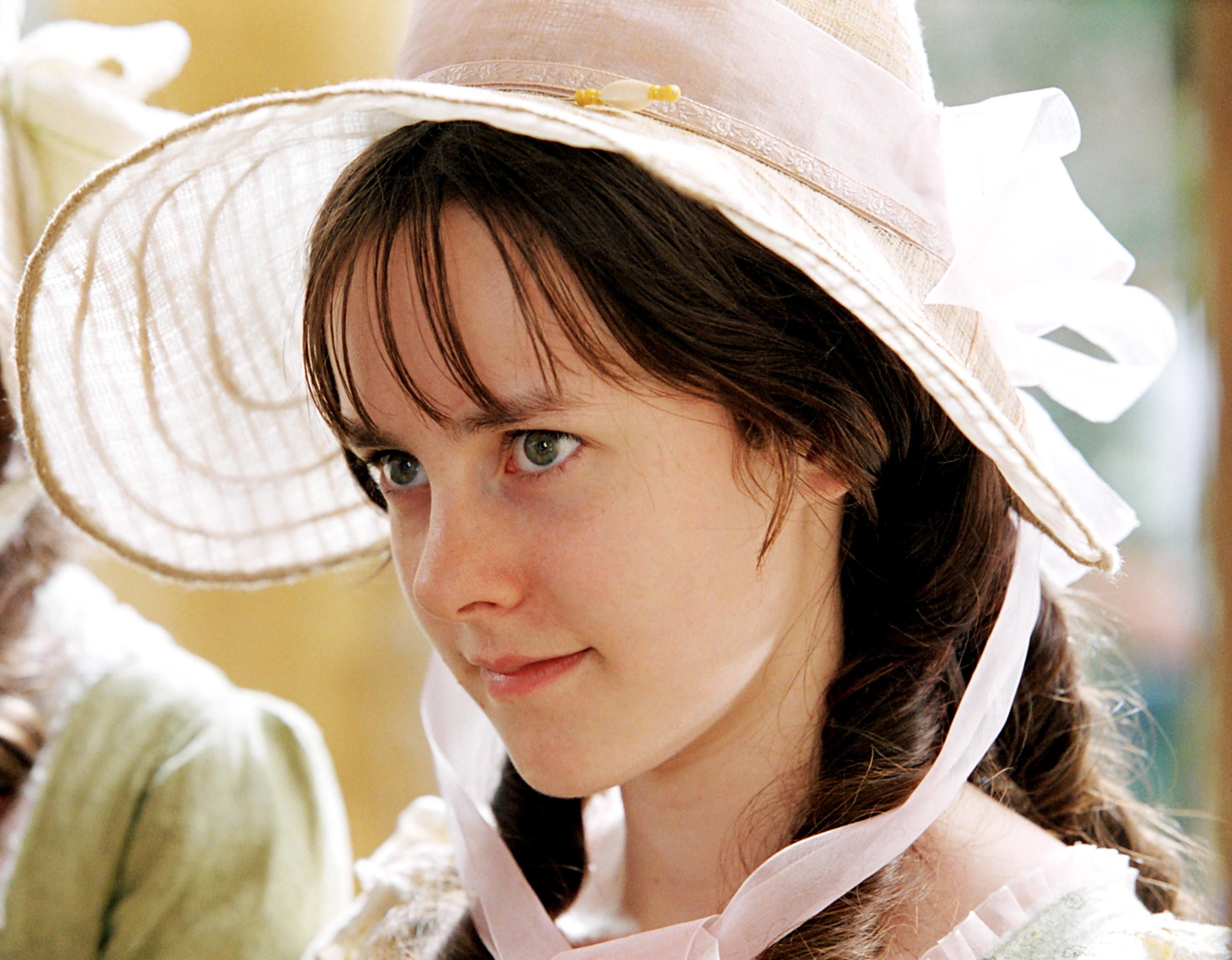 Lydia Bennet in her bonnet