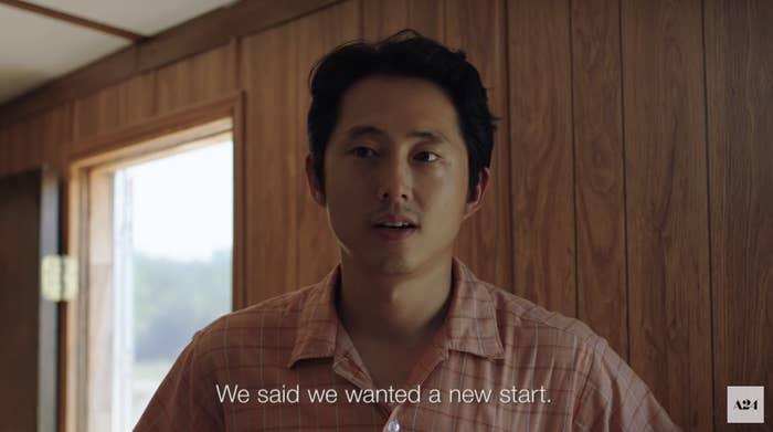 "Jacob in Minari saying, ""We said we wanted a new start"""