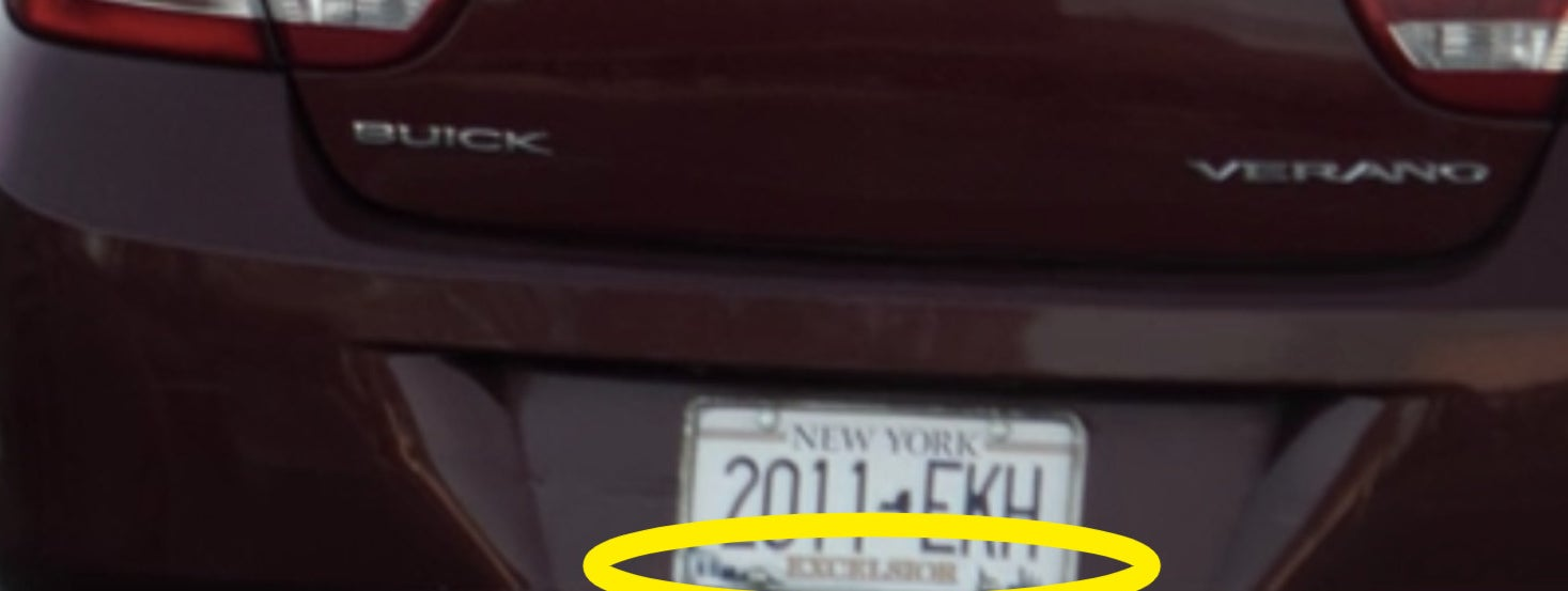 A circle around Wanda's license plate