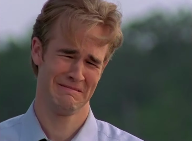 Dawson crying after Joey rejects him