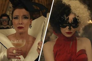 Emma Thompson and Emma Stone in the live-action Cruella