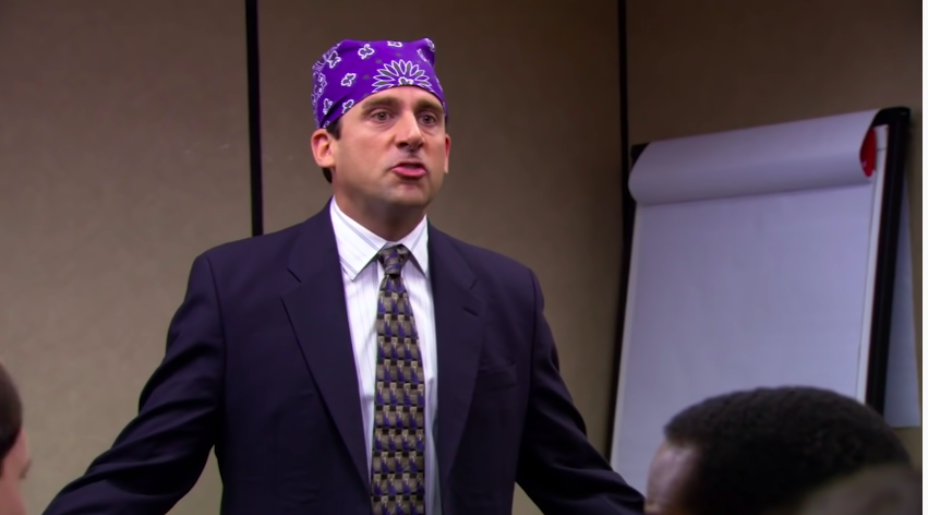 "Michael pretending to be ""Prison Mike"""