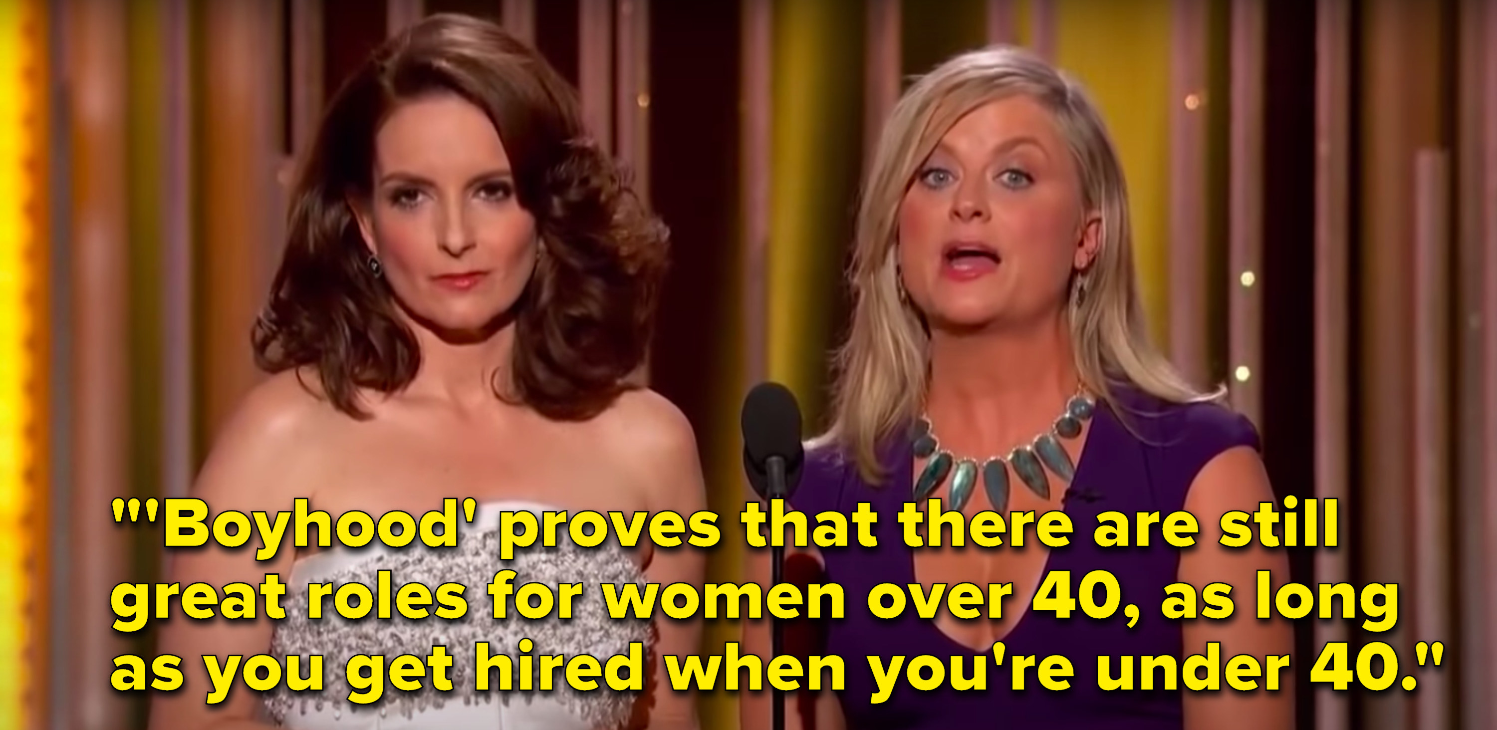 """Poehler says, """"'Boyhood' proves that there are still great roles for women over 40, as long as you get hired when you're under 40"""""""