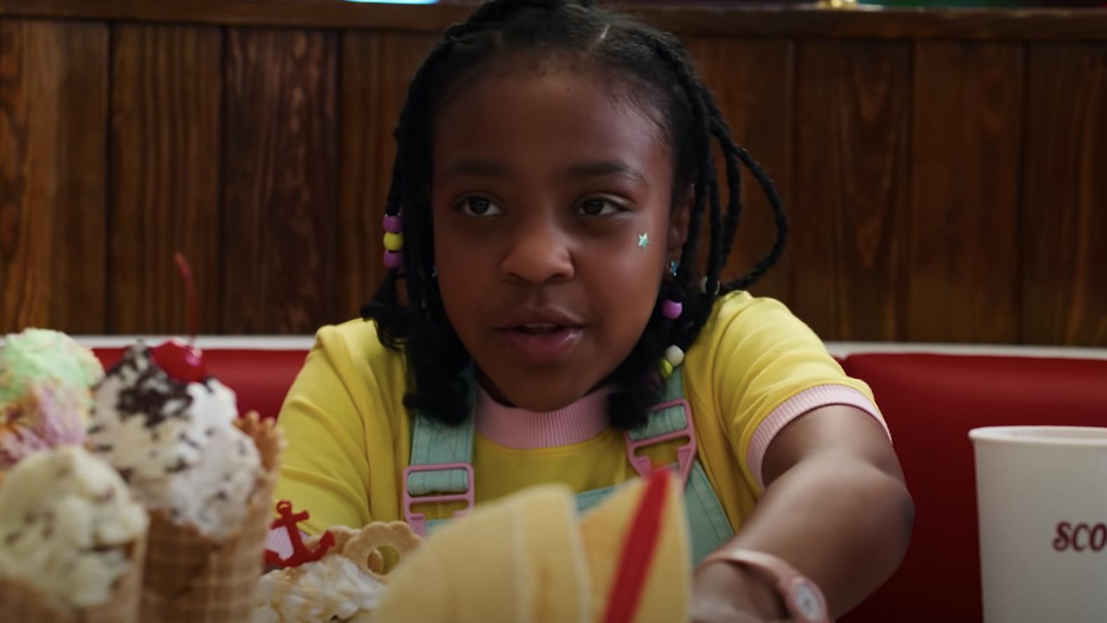 Erica sitting next to multiple ice cream cones