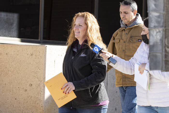 Cudd smiles as she leaves the courthouse