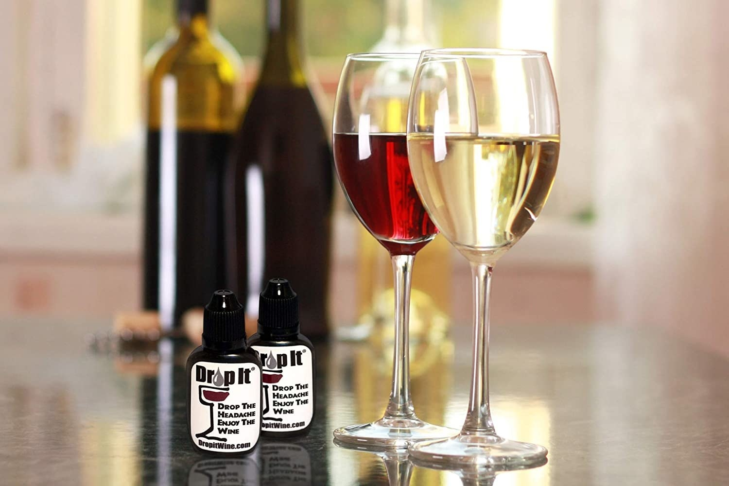 The wine drops can be used in red or white wine