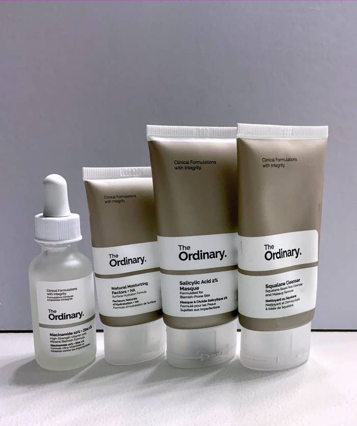 The set comes with four skincare products