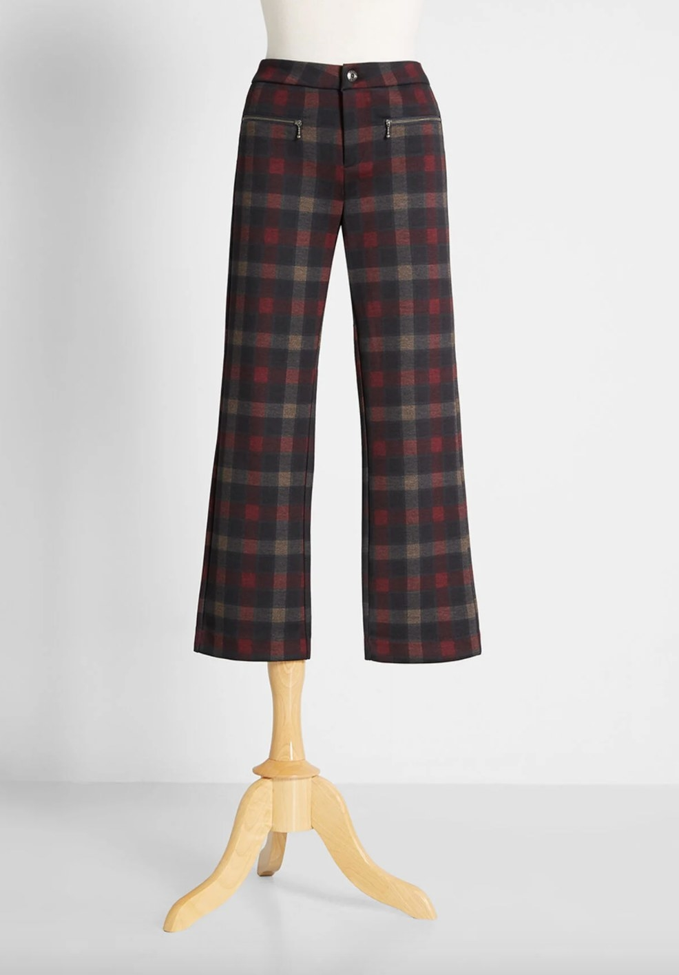 The pair of plaid pants