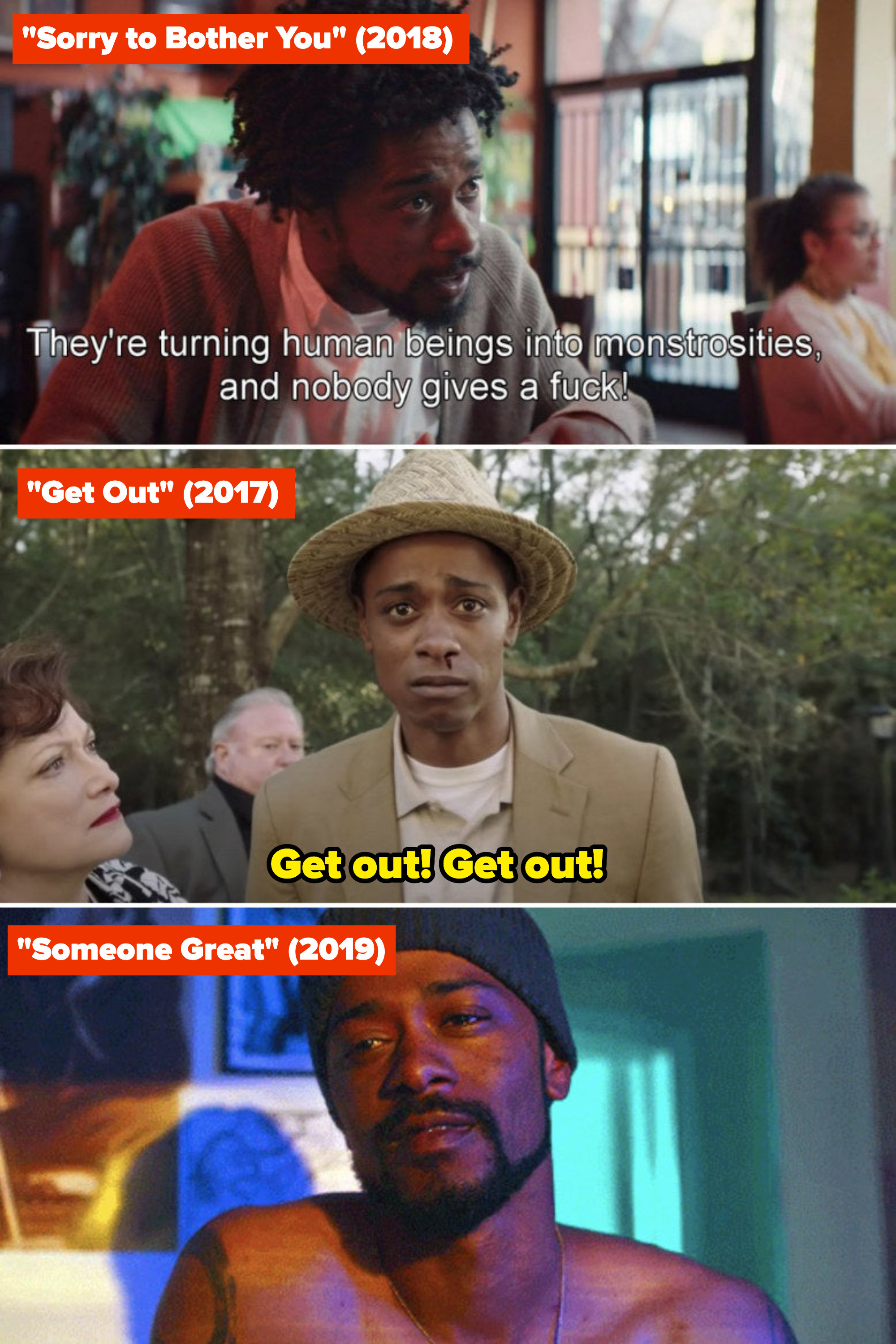 """LaKeith Stanfield in """"Sorry to Bother You,"""" """"Get Out,"""" and """"Someone Great"""""""