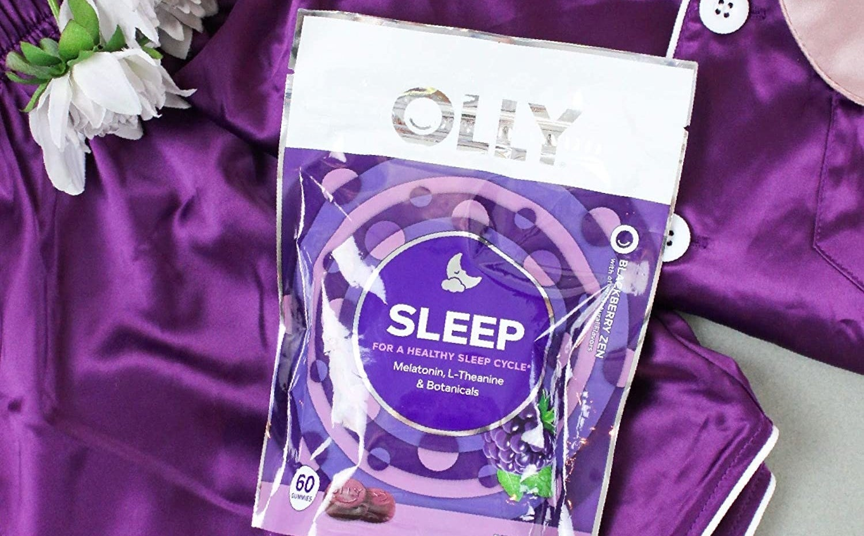 The bag of OLLY Sleep Melatonin Gummies