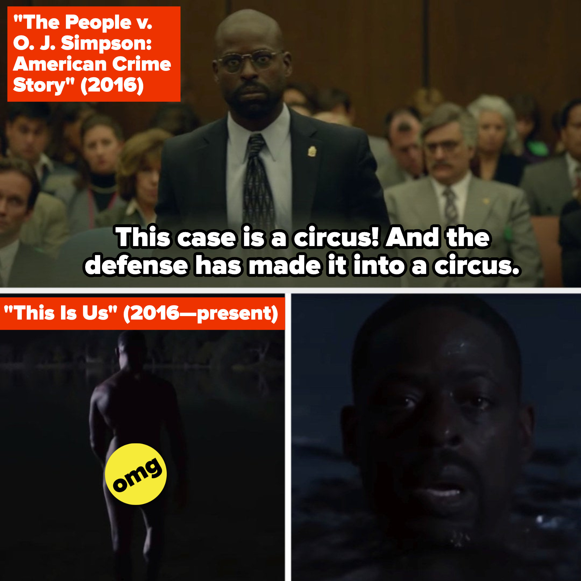 """Sterling K. Brown in """"The People v. O.J. Simpson: American Crime Story"""" and """"This Is Us"""""""