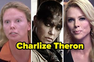 """Charlize Theron in """"Monster,"""" """"Mad Max: Fury Road,"""" and """"Bombshell"""""""