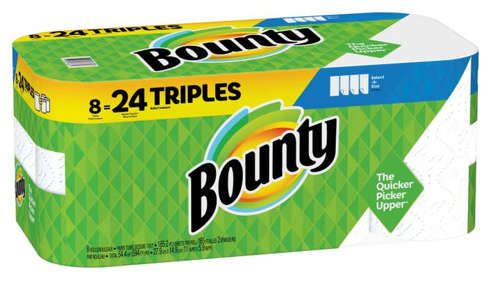 The eight-pack of paper towels