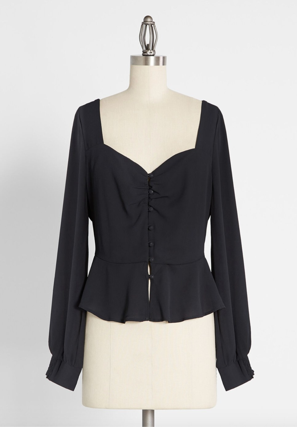 The black cinched blouse