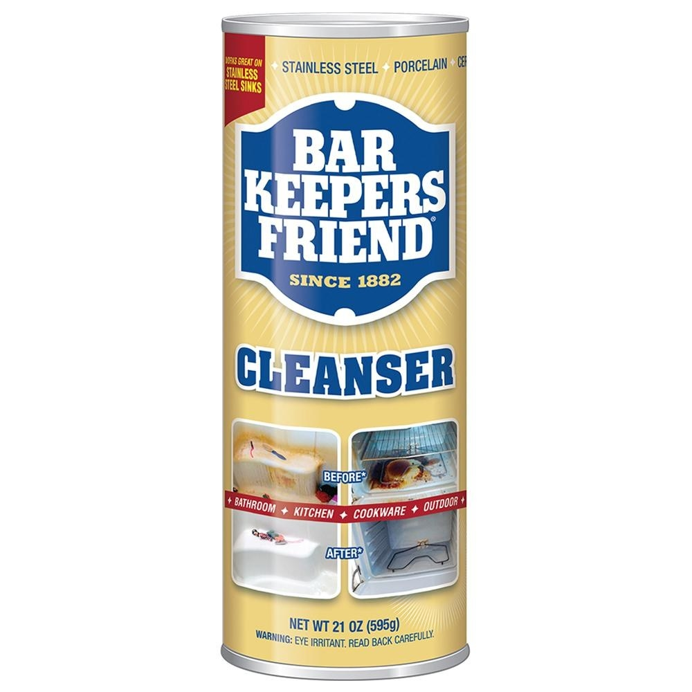container of bar keepers friend cleaner and polish