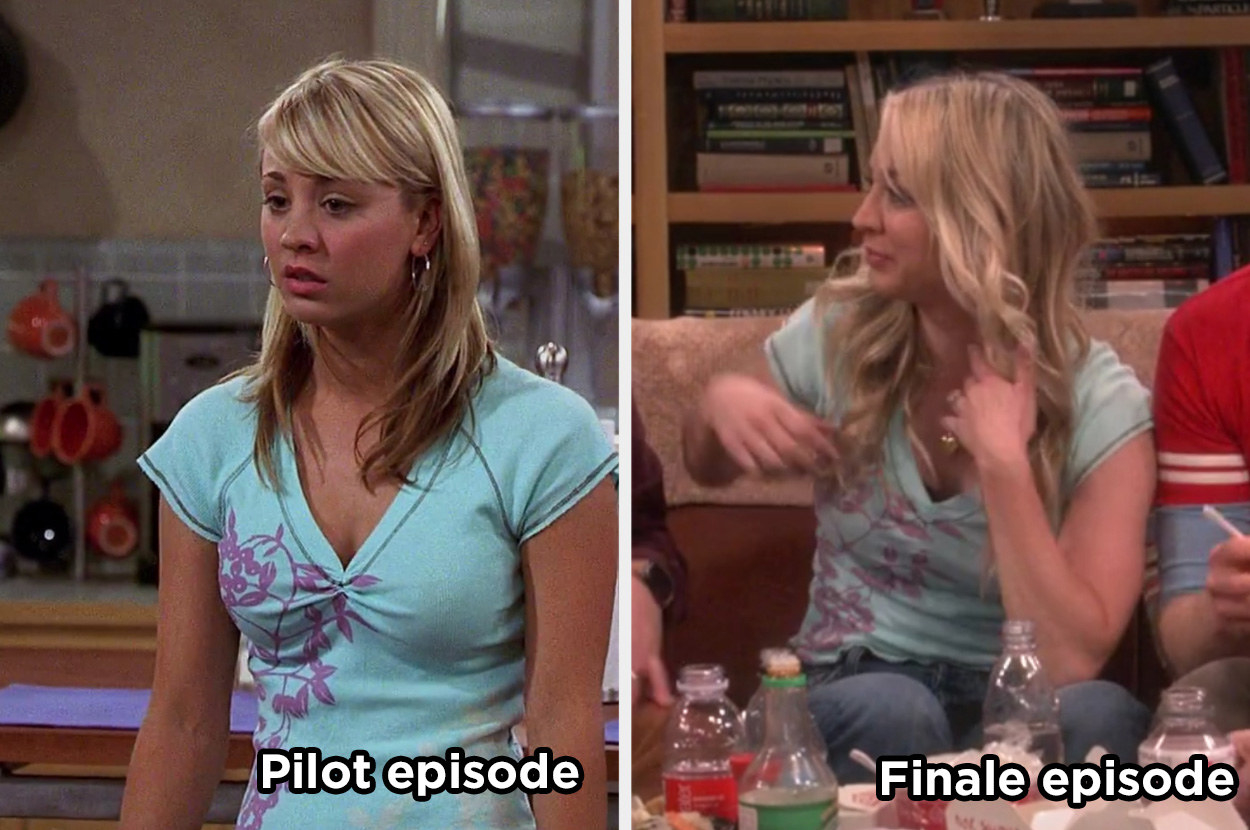 Penny wearing the same shirt in the finale as she did in the pilot