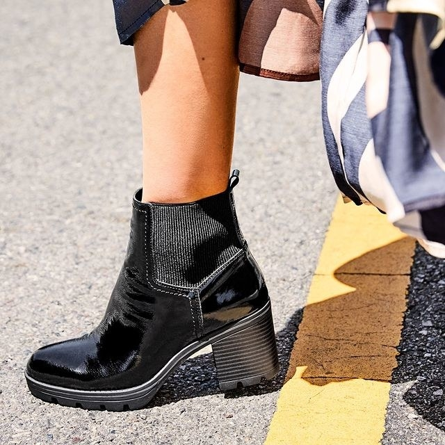 The black boot with a chunky heel
