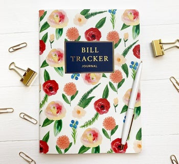 the floral cover of the bill tracker