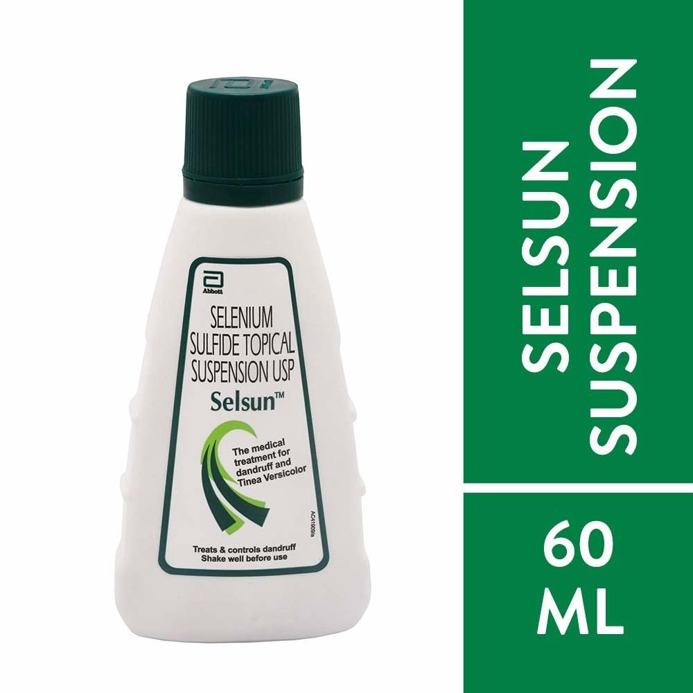 Bottle of the anti-dandruff shampoo